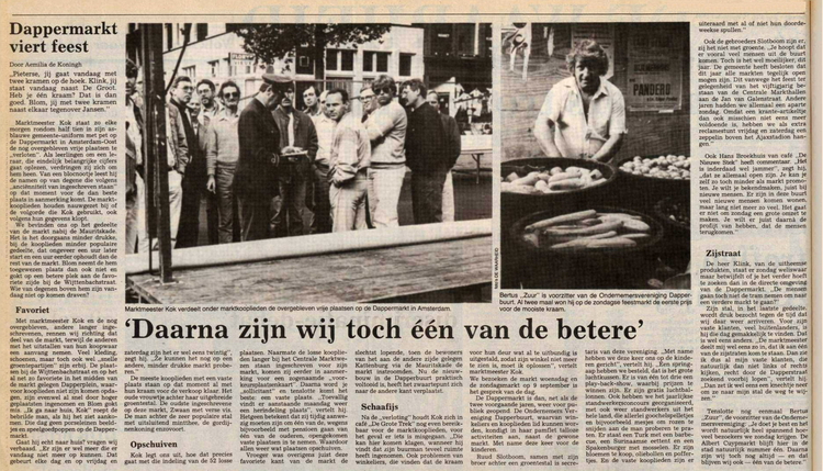 10 september 1984 - Dappermarkt viert feest