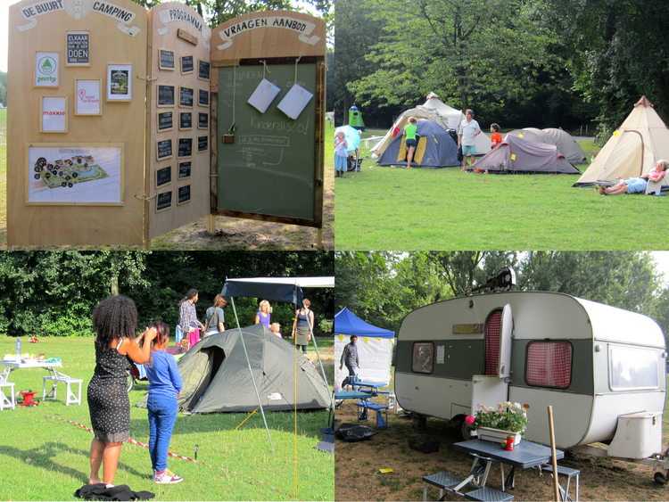 Buurtcamping Oosterpark .<br />Foto's collage: Jo Haen ©