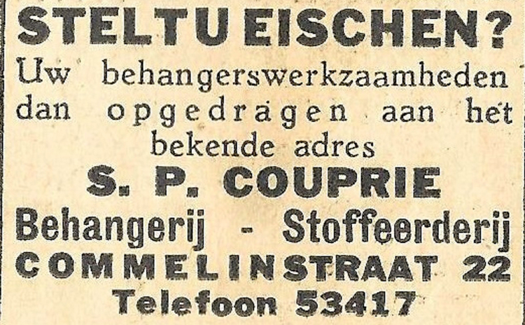 Commelinstraat 22 - 1935 .<br />Bron: Wiering&#39;s Weekblad
