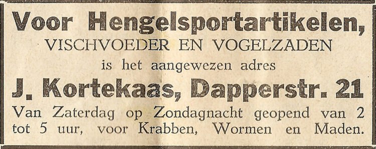 Dapperstraat 21 - 1935