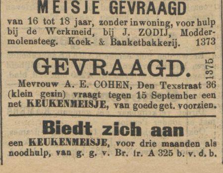 39 flink meisje gevraagd 39 voor de bakkerij geheugen van oost for Bakkerij amsterdam west