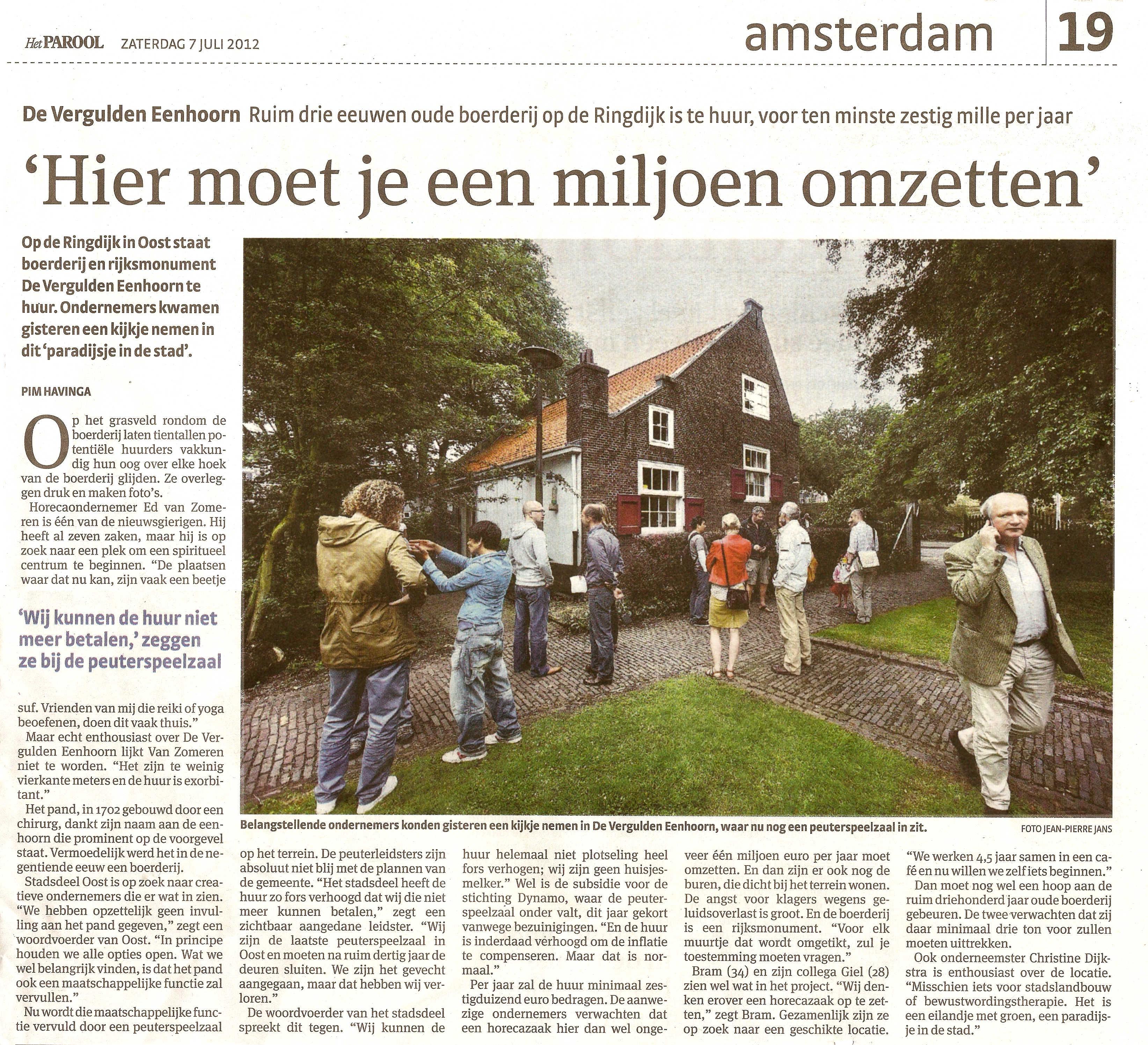 Plaatsen Rond Amsterdam.Bron Het Parool Geheugen Van Oost