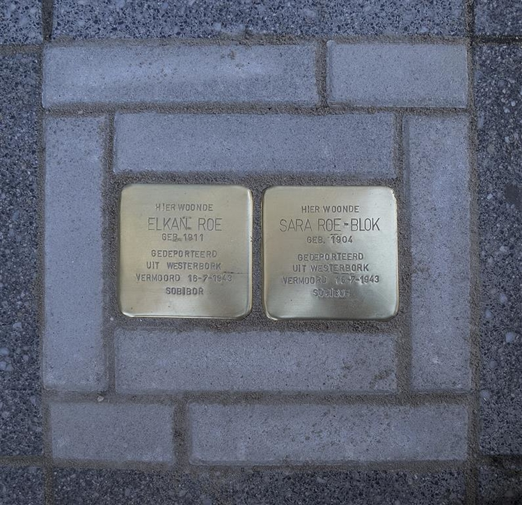 De stolpersteinen Foto april 2017 door Corrie Groen