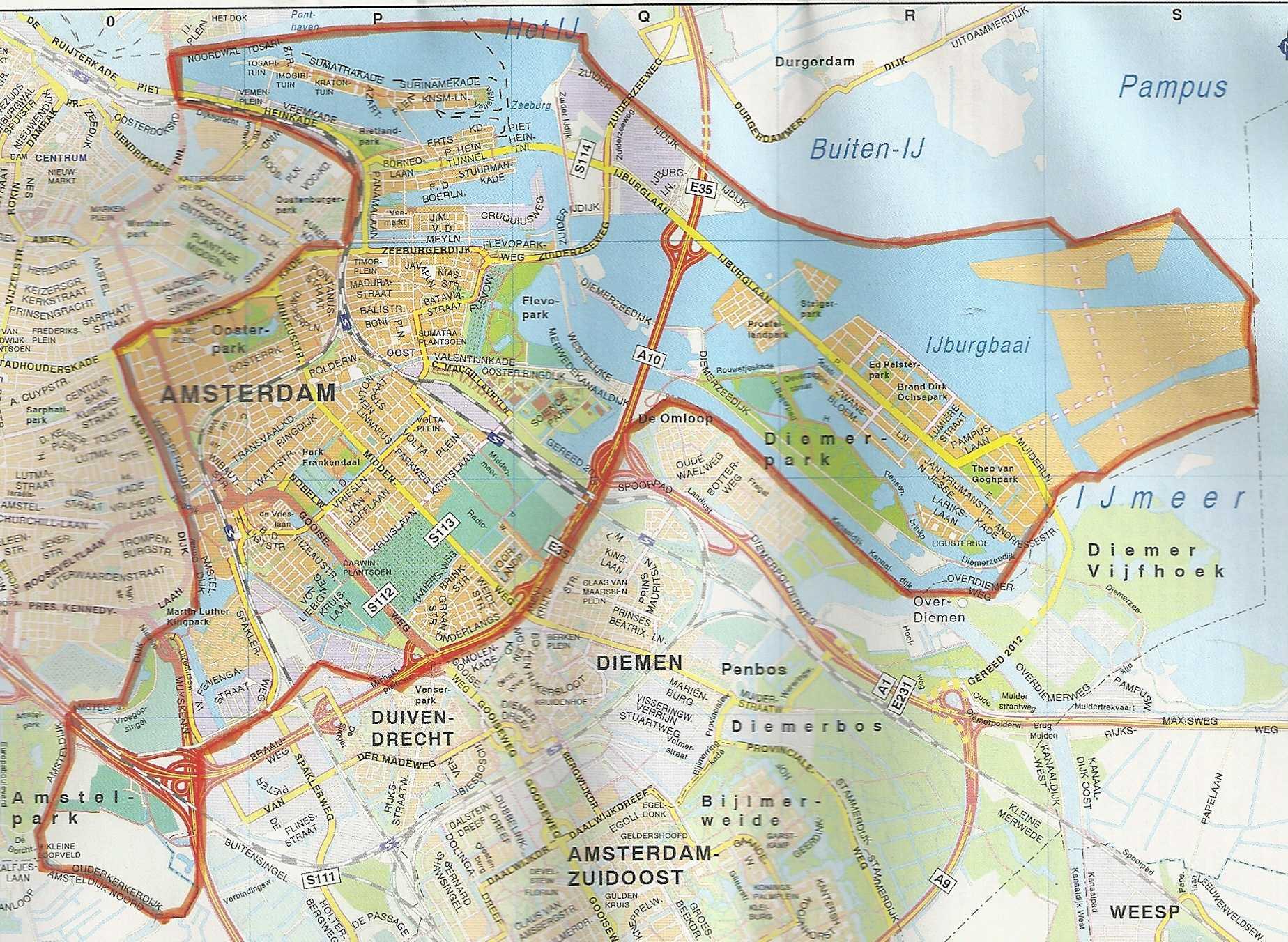 De Kaart Van Heel Amsterdam Oost Geheugen Van Oost